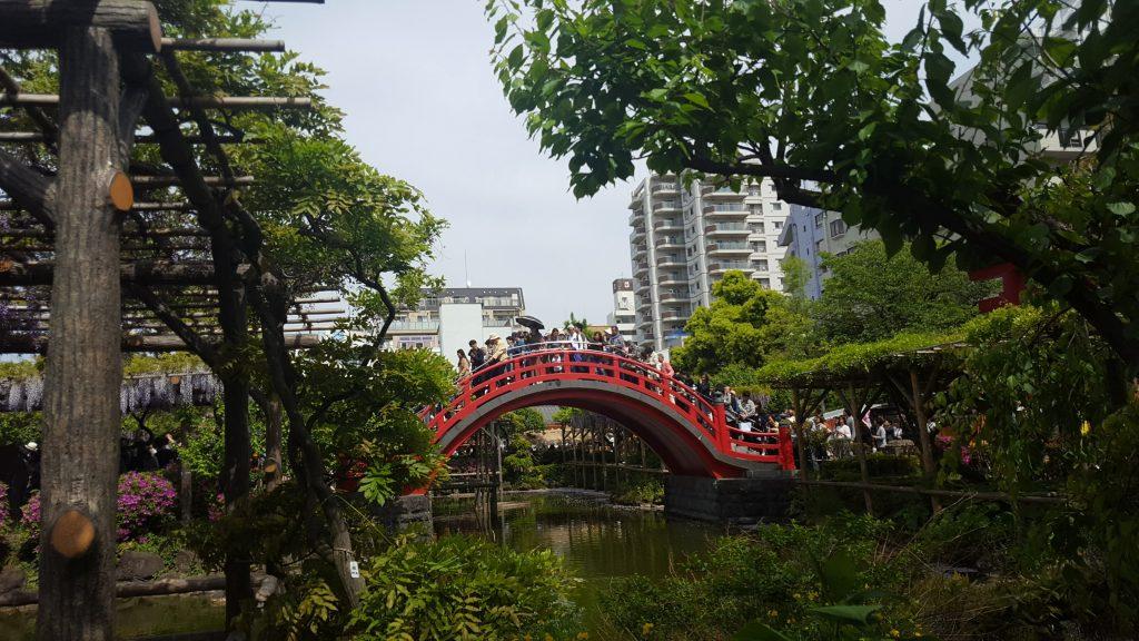 ponte rosso Giappone Kameido Tenjin