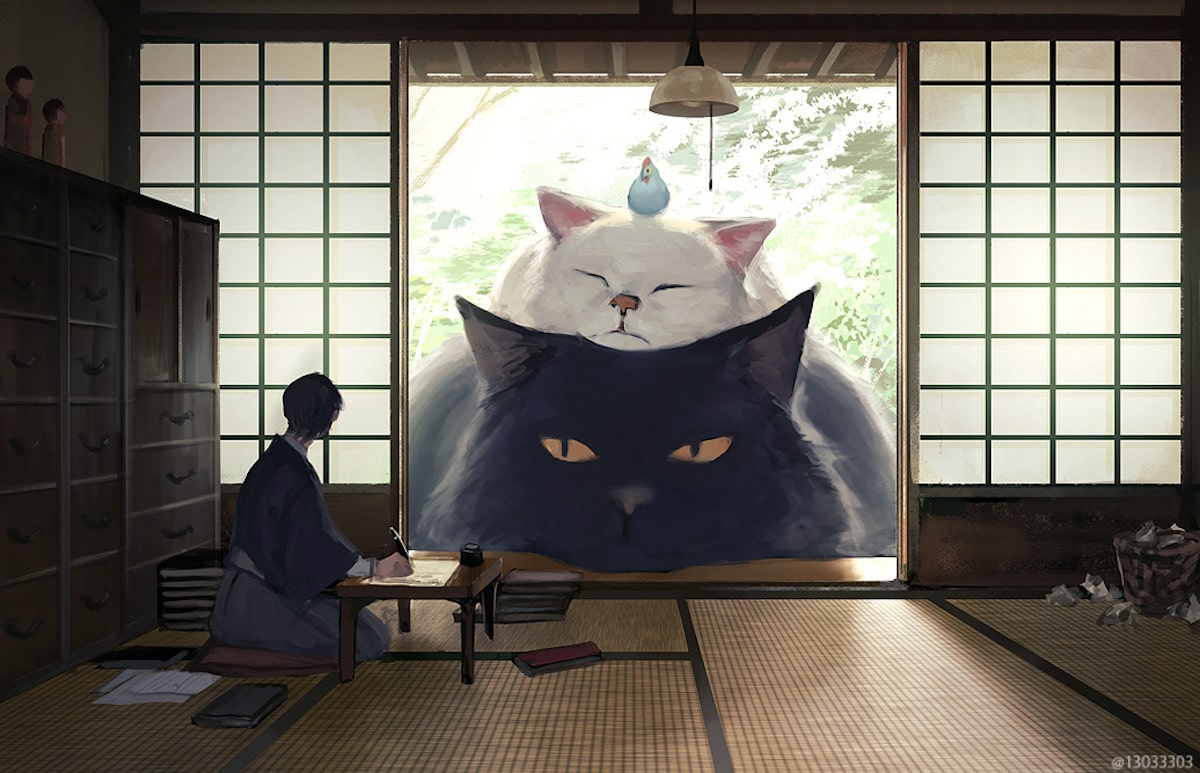 cats tatatmi japanese house shoji monokubo artist