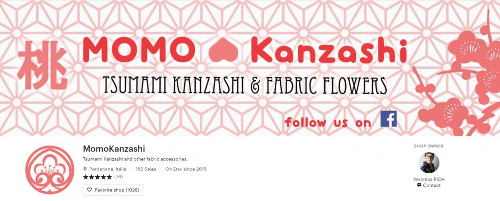 etsy momo kanzashi