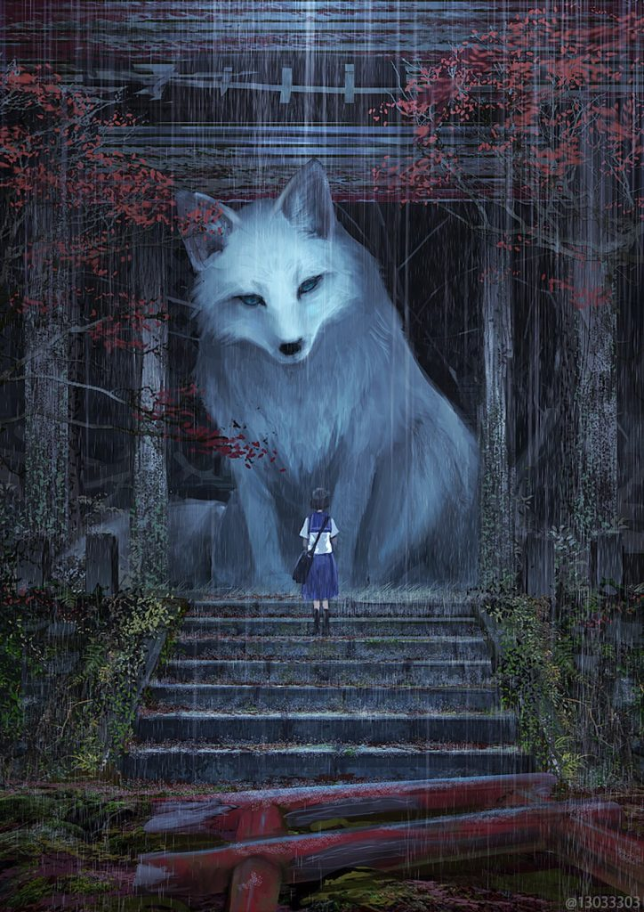 fox kitsune monokubo japanese