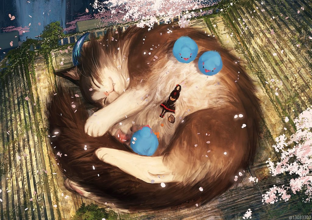 cat sakura monokubo artist japanese