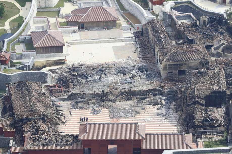 shuri castle after fire