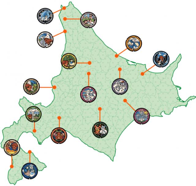 Mappa Hokkaido Pokefuta