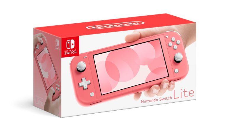 In uscita il nuovo Nintendo Switch Lite color corallo!
