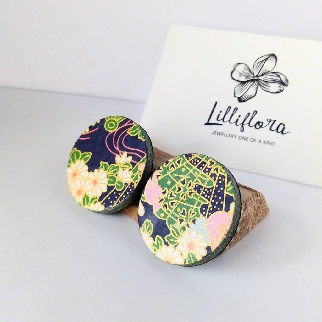 orecchini lilliflora carta giapponese