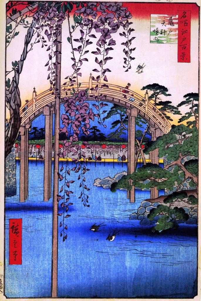 Kameido tenjin shrine hiroshige