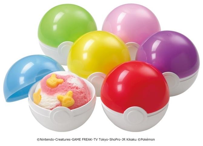pokeball pokemon ice cream Pikachu Baskin Robbins